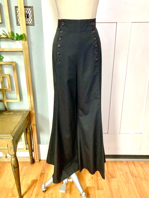Vintage 70s Sailor Style Elephant Bell Pants by Ko