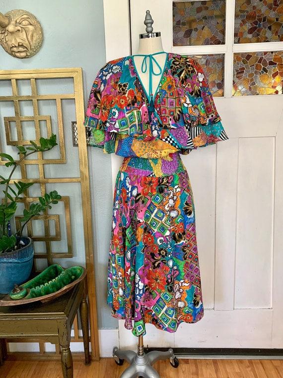 Vintage 80s Diane Freis Dress