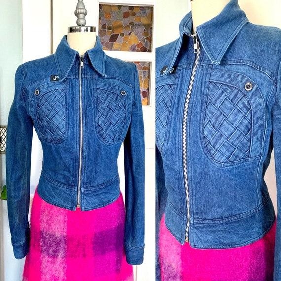 Vintage 70s Jag Blue Denim Jacket, S