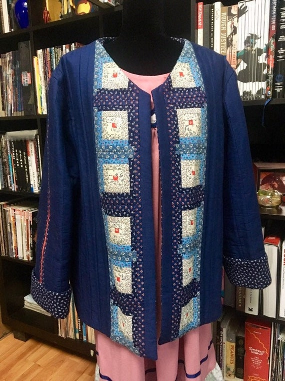 Vintage 70s/80s Quilted Jacket Curvy Size
