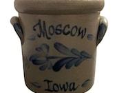 Rowe Pottery Works Crock Small Moscow Iowa 2005 Handmade