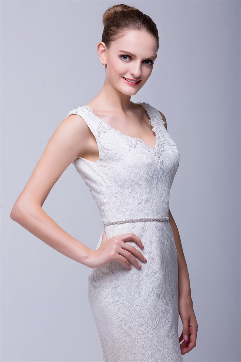 Luxury Bride Waist Belt Elegant Crystal Rhinestone Wedding Dress Waist Belt Wedding Accessories Wedding Sash Bridesmaid Belt