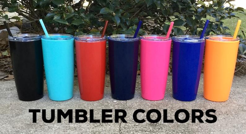 Custom tumbler with lid /& straw  Personalized name coffee mug tumbler  Monogram Tumbler  Insulated tumbler with name  Personalized gift