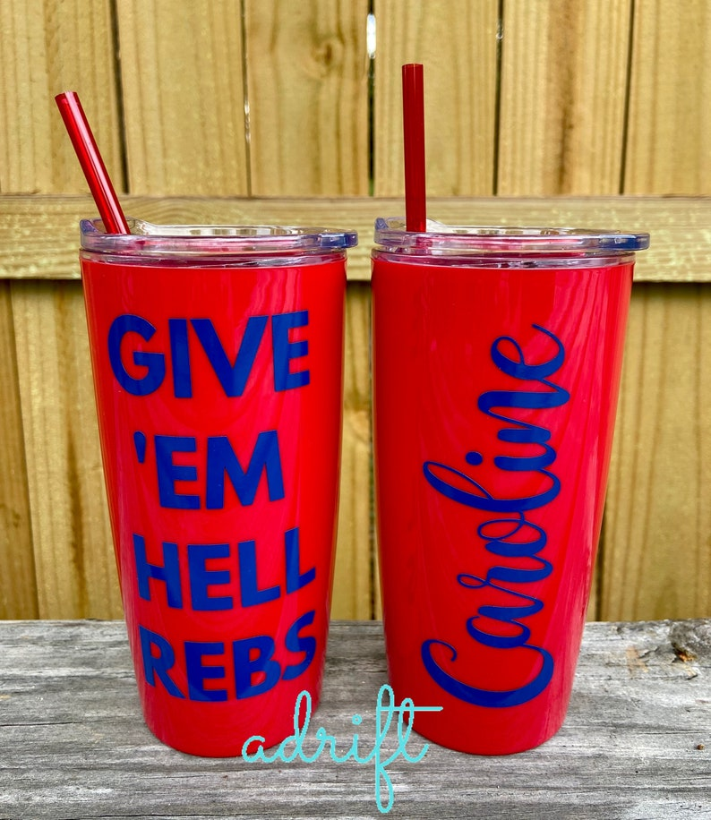 OLE MISS football Game day Tumblers  Ole Miss tailgaiting Cup w lid and straw  Personalized Ole Miss Gift  Easter Gift  Hotty Toddy