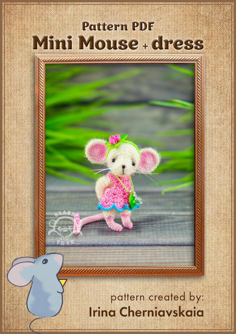 Crochet Pattern of the famous Little Mouse  dress image 3