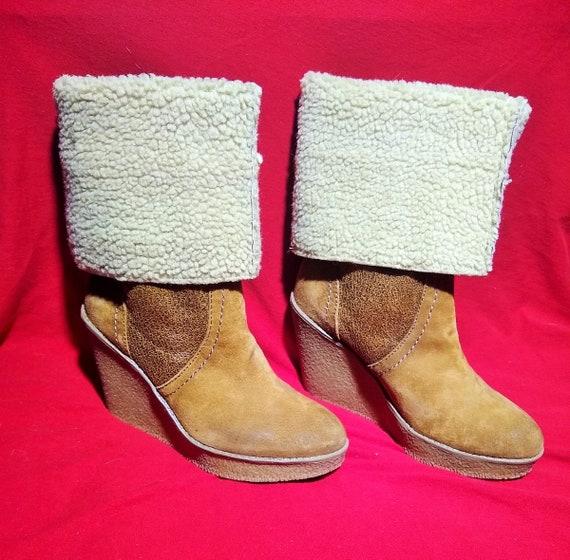 Vintage Wedge Boots