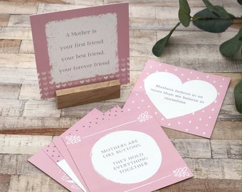 A set of 6 Mother note card prints | Mother's Day gift | gift for mum | gift for mother | gift for her | quotation cards | gift for mummy
