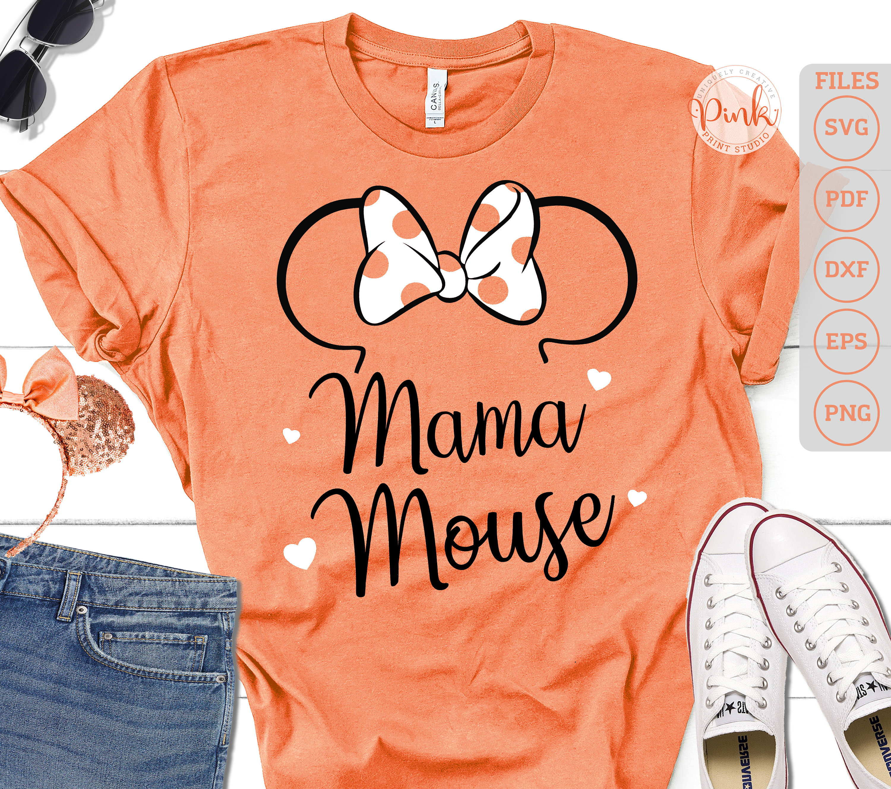 Disney Mama Mouse With Free Gift Instant Download Etsy