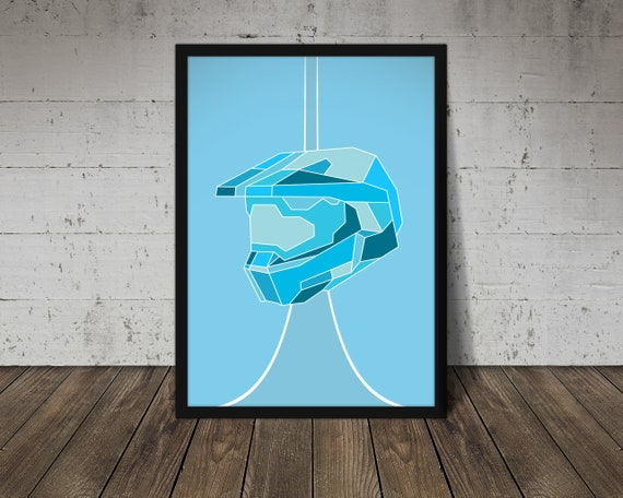 Halo Master Chief Helmet Abstract Poster Print