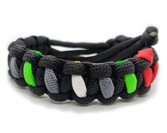 Leatherboy Pride Flag Stripes Adjustable Paracord Bracelet LGBT