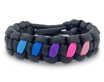 Omnisexual Pride Flag Adjustable Paracord Bracelet LGBT