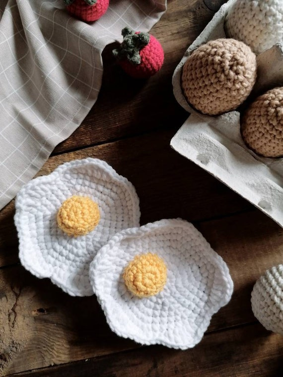 Crochet Donut Food for play kitchen accessories Pretend play food Montessori educational toy Kids kitchen Eco friendly birthday gift toddler