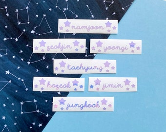 BTS Lightstick Decal [BTS Name Stickers for Army Bomb + freebie]