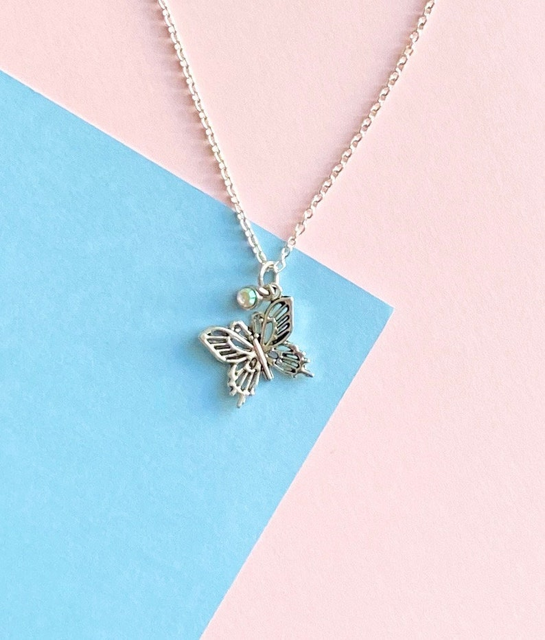 Ateez Dancing Like Butterfly Wings Charm Necklace +freebie