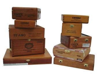 Set of 3 Romeo y Julieta Empty Cigar Boxes Different Colors!