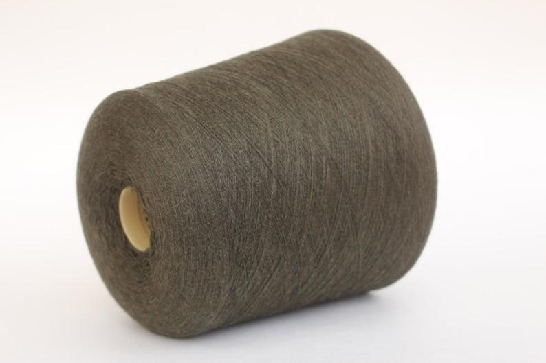 100 gr ball dark olive yarn 100/% merino wool