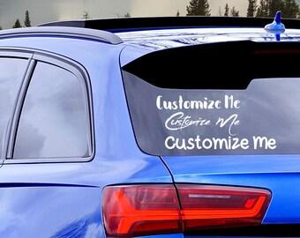 Custom car decals | Etsy
