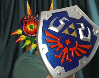 Legend of Zelda Hylian Shield Replica | Cosplay Shield from: Ocarina of Time, Twilight Princess, Breath of the Wild, Skyward Sword| & More