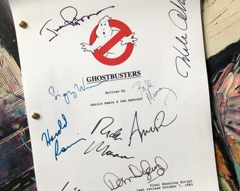 Ghostbusters| Signed Script| Ghostbusters Gift| Bill Murray| 1984