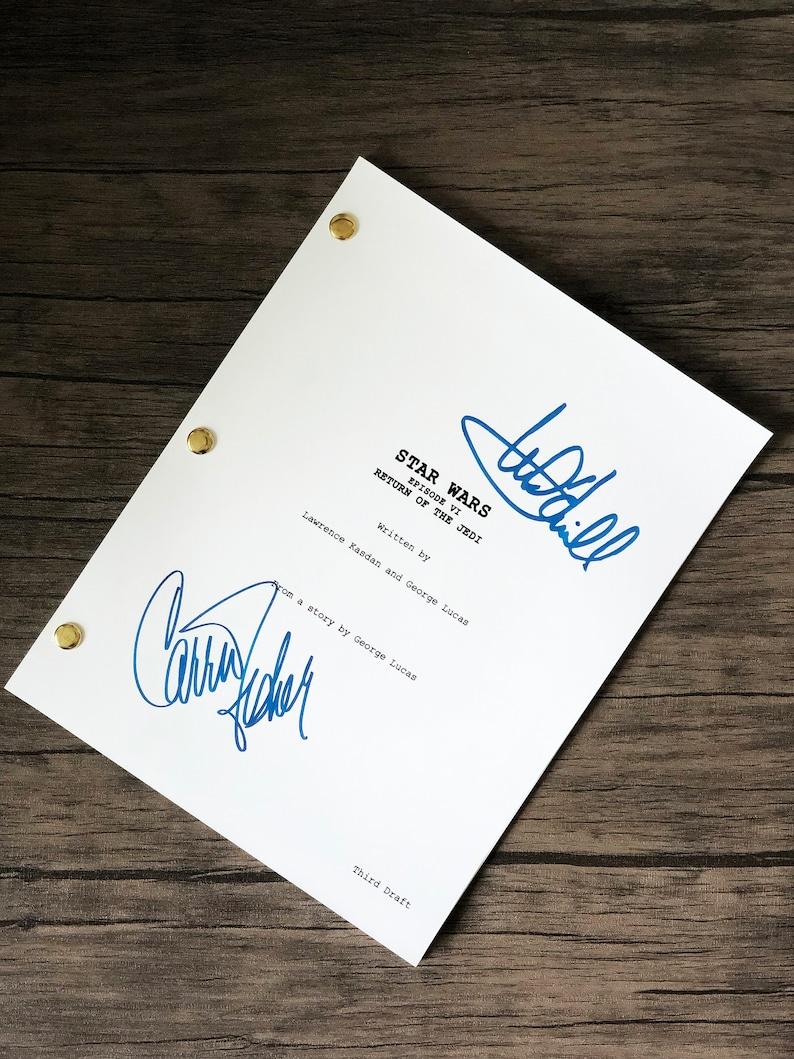 Star Wars Return of the Jedi signed script