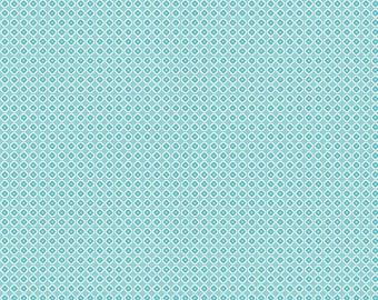 Farm Girl Vintage Flower Flat Aqua Fabric by Riley Blake Designs SBY