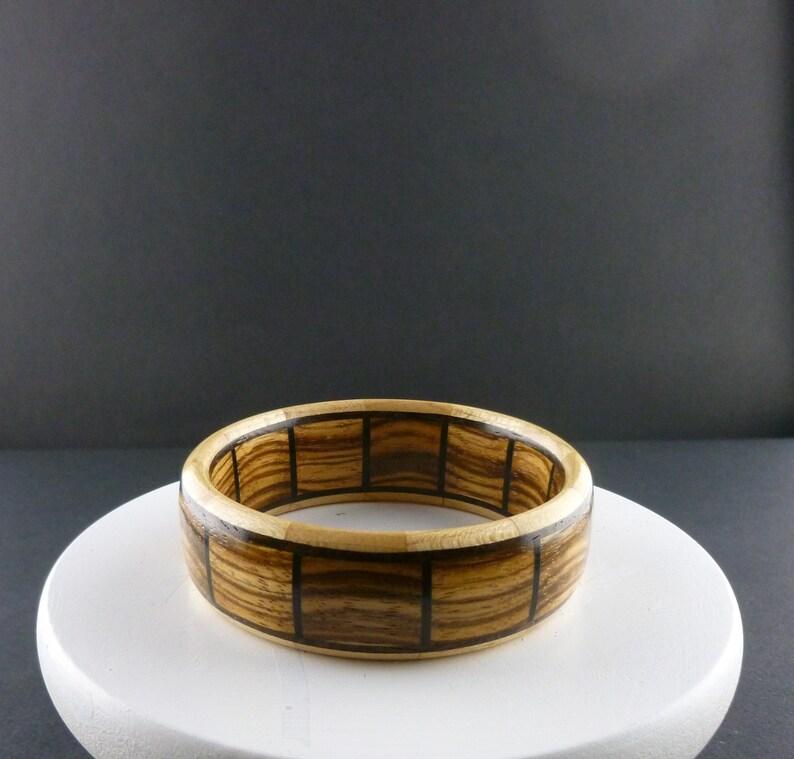 Segmented Wood Bangles Size 8