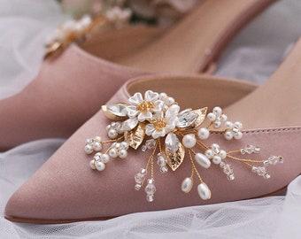 1pcs Crown Pearl Bridal Wedding Shoes Accessories DIY Rhinestone Shoe/'s Flowe`
