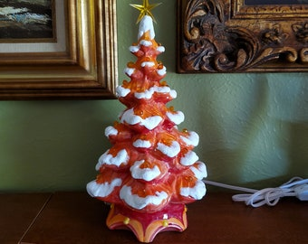 Ceramic Christmas Tree With Lights Etsy