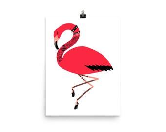Punk Flamingo Poster