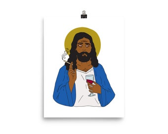 Emotionally Exhausted Intoxicated Jesus Poster