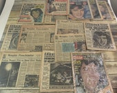 Elvis Presley 1977 death newspaper lot of 14 vintage and sealed papers - Memphis Press - People - Star - excellent condition
