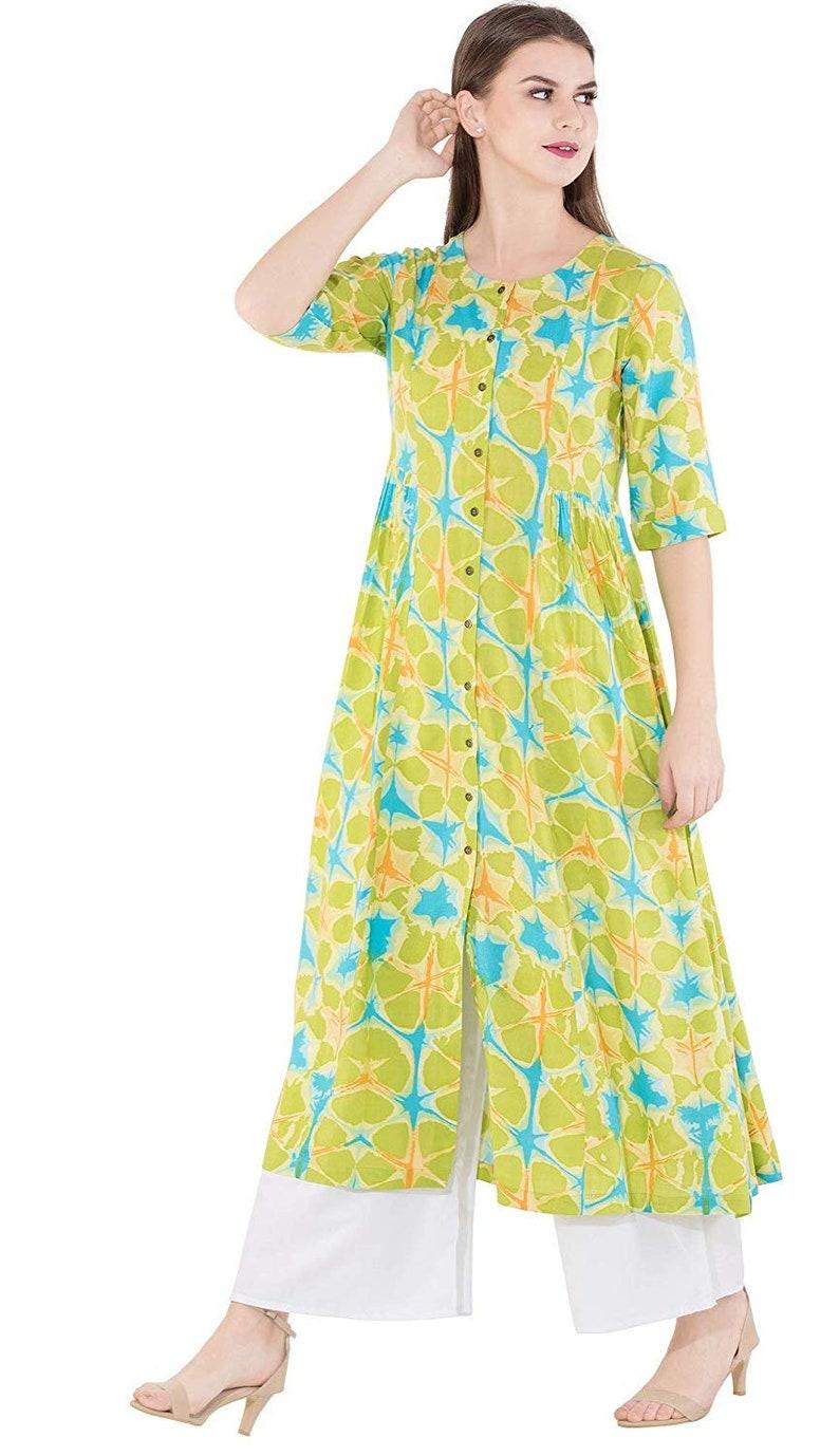 IMPEREALEXPORT Beautiful Elegant Rayon Flared Kurti For Women