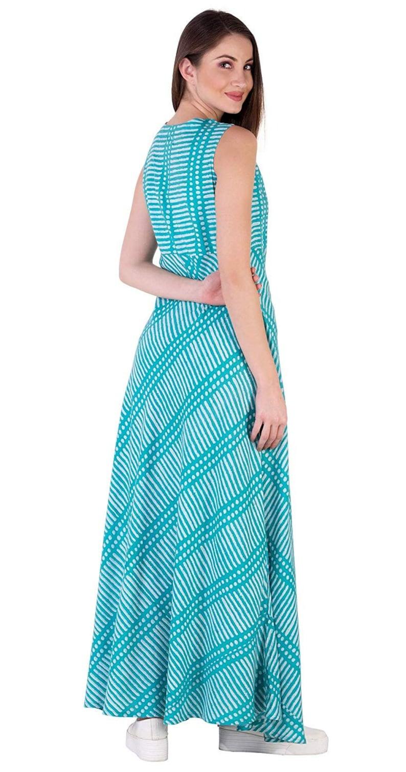 IMPEREALEXPORT Beautiful Elegant Rayon Maxi Dress For Women