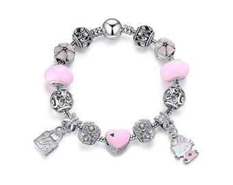 a011035aa Hello Kitty Charms Bracelet, Kids Girls Womens Jewelry, Pandora Compatible  Charms