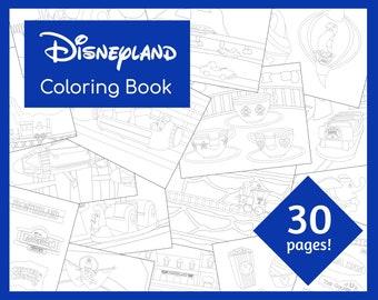 Disney Coloring Pdf Etsy