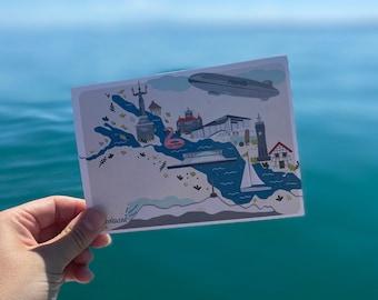 Postcard Lake Constance