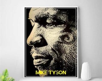 Boxing Mike Tyson  Sports MULTI Leinwand Wand Kunst Bild drucken