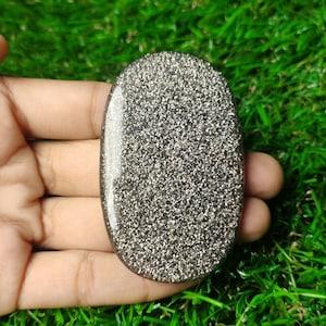 Black Aventurine QuartzRound Shape Cabochon17.5x7.5mm SizeTop Quality Natural Gemstone Smooth CabochonWholesaleGS880