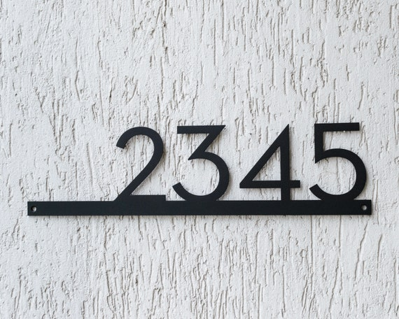 Address Sign Any Numbers Metal House Number