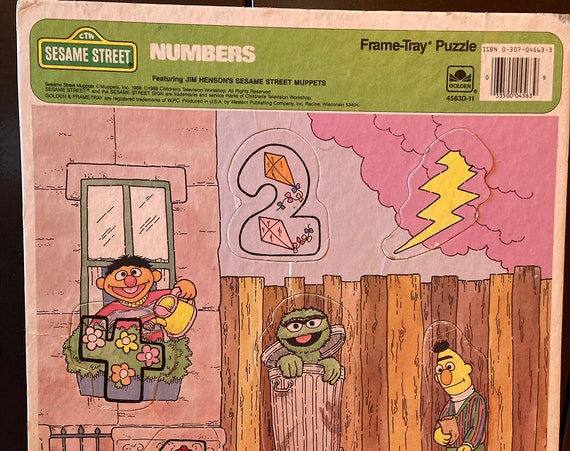 Sesame Street The Count's Numbers Frame Tray Puzzle by CTW & Muppets 1988