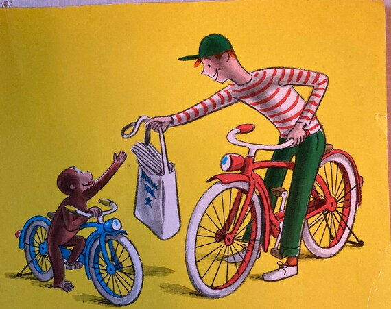 Curious George Rides a Bike - Vintage 1980 Edition of Curious George Rides a Bike