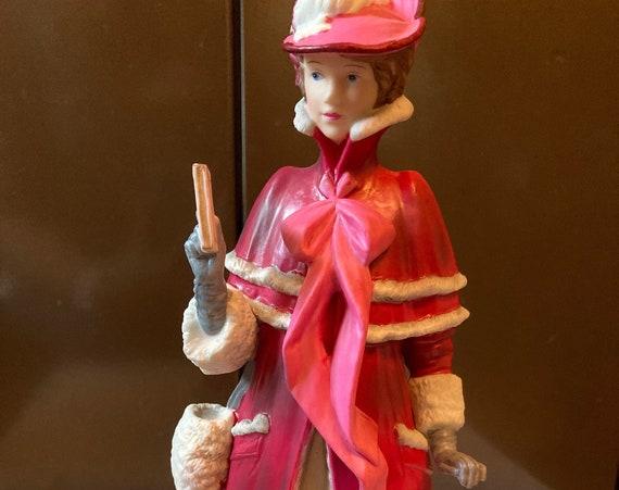 AVON 1989 Star Presidents Club Mrs. Albee Award Full Size, Avon Mrs. Albee Porcelain Award Statue Figurine Collectable