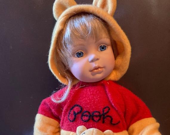 Vintage Ashton Drake Winnie the Pooh Porcelain Doll - Need A Hug Porcelain Doll Original