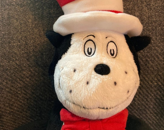 """Kohls Cares Dr. Suess The Cat In The Hat Plush Cat 21"""" Stuffed Animal with Hat"""