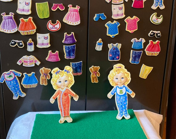 T.S. Shure Teeny Tiny  Wooden Magnetic Dress-Up Dolls - Wooden Magnetic Dress-Up Dolls 51 Magnets Total!