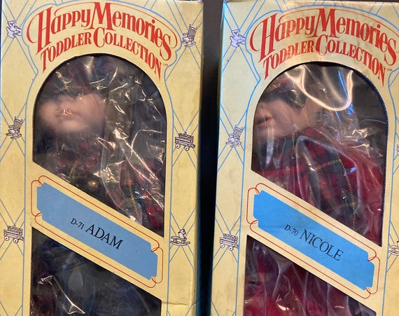 "14"" Porcelain Doll - Happy Memories Toddler Collection - D71 Adam - Vintage 90's Nicole, Heritage Mint Happy Memories  Doll 14"" Porcelain"