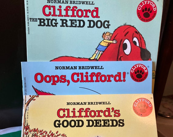 Clifford the Big Red Dog - Oops, Clifford - Clifford's Good Deeds - Vintage Scholastic Books