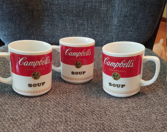 1981 Vintage Corning Porcelain Campbells Soup Coffee Cup Mugs
