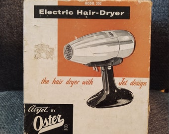 Oster Airjet Model 202 Vintage Chrome Hairdryer