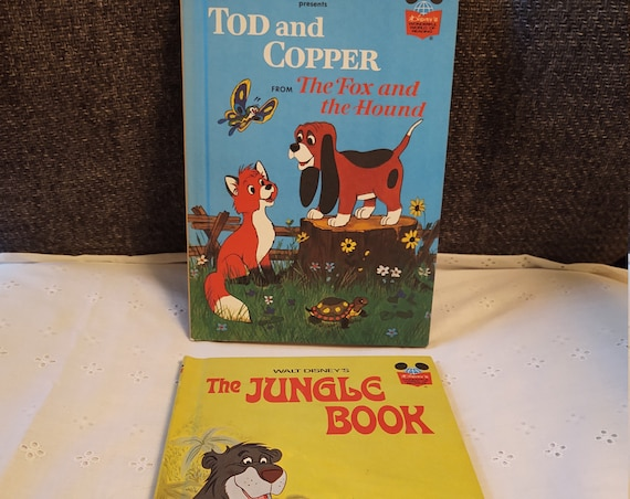 Walt Disney's Wounderful World of Reading - Tod and Copper (1981) and The Jungle Book (1974)
